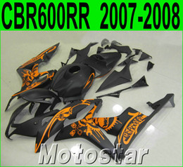 High quality fairing kit for HONDA Injection molding CBR600RR 2007 2008 CBR 600 RR F5 07 08 matte black yellow fairings set LY55