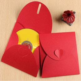 Wholesale 13 cm quot High Quality Kraft Paper Discs CD Sleeve Baby Shower Wedding Party CD DVD Packaging Envelopes Case Cover Bag Box Holder