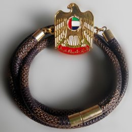 Wholesale 2015 UAE Natonal Days Leather Bracelet For the Celebrate