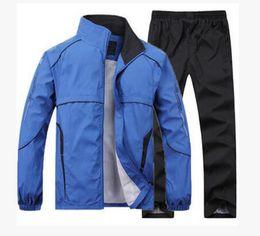 Wholesale Fashion Brand Men Set Jacket Man Winter Jacket Windproof Coat Outdoor SoftShell Mountaineering Sport suit Black L XXXXL