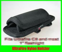 Wholesale UltraFire Flashlight Nylon Holster for UltraFire C8 WF B WF B Free DHL