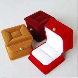 New Velvet Ring Box, square shape Jewelry Display Gift Case,sold per bag of 10 pcs