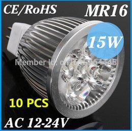 Wholesale FU High lumen MR16 GU5 LED spot light lamp V V V W W W LED Spotlight Bulb Lamp GU WARM COOL WHITE