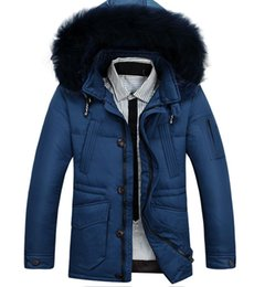 Wholesale Fall Bargain Winter Men s Famous designer brand JP Down Jacket Coat Men Fashion Thick Warm Real Fur Collar Outdoor Waterproof Parka