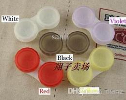10 Colors Dual Box Double Case Lens Soaking Case Contact Lens Case