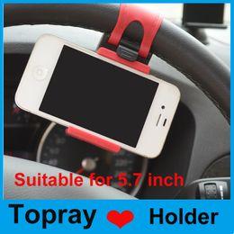 Volant pour les vélos à vendre-Universal Car Steering Wheel Cradle Support pour téléphone portable Clip Support pour voiture / Bike Support pour téléphone mobile iPhone GPS