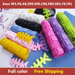 Wholesale-Full color laptop Keyboard cover skin protector for asus W3,V6,A8,Z99,S96,C90,X80,X81,F8,F81