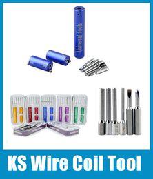 Universal KS Wire Coil Tool E-cigarettes Coil Building Kit Tools Dark Zero Micro Coil Jig RDA RBA Coil Maker FJ064