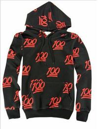 Wholesale new fashion Emoji shirts Women Men Boy Girl d hundred score print emojis jogger sweatshirt hoodies outfit black