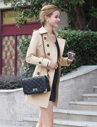 New 2017 autumn outerwear & coat women medium-long sashes trench coat slim women casual dress trench coat for women
