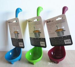 Wholesale hotsale Nessie Ladle Vertical Long Handle Plastic Spoon Dinosaurios Loch Ness Monster Nessie Spoons Cucharas Largas Louche De Cuisine