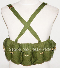 Wholesale SURPLUS VIETNAM WAR CHINESE TYPE AUTO CHEST RIG AMMO POUCH