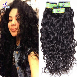 Unprocessed Brazilian Virgin Hair Modern Show Hair Brazilian Human Hair Water Wave Brazilian Water Wave 4 Bundles Natural Wet And Wave