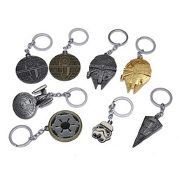 Wholesale Christmas Star Design - 2016 star wars keychains toys 14 Designs Children key rings key chains buckle starwars Millennium Falcon keyrings Keychain christmas gifts