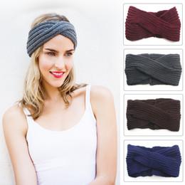Fashion Women Cross Knitted Headbands Lady Girl Handmade Hair Accessories Bohemian Head Wraps Womne Autumn Winter Head Wear