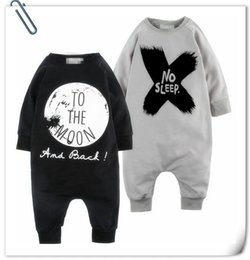 Baby Romper 2019 Winter Hot Fashion Style Letter Printed Toddler One Piece Clothes Newborn Infatn Rompers Two Clothes 70-100 8Pcs lot T1789
