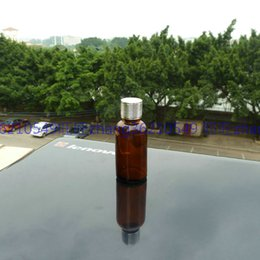 30ml brown amber Glass Essential Oil Bottle With shiny silver aluminum cap. Oil vial, Essential Oil Container
