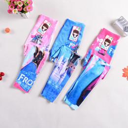 Girls Leggings Cartoon Frozen Fever leggings New children anna and elsa clothing girls leggings long trousers 3 color