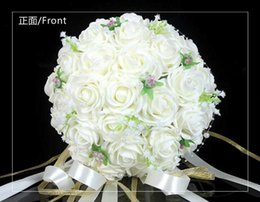 Beautiful Wedding Bouquet Bridal Bridesmaid Flower wedding bouquet artificial flower rose bouquet white bridal bouquets