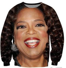 Alisister new 2014 Fashion Oprah sweatshirt women clothing 3d Character hoodie printed Harajuku sweatshirts sexy women hoody