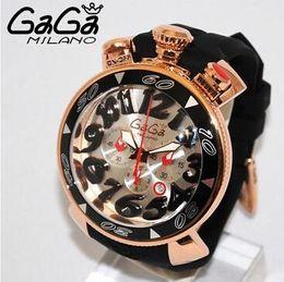 Wholesale The new Italian Gaga watch fashion Gaga quartz watch six pin unisex big dial mm super D numbers hot gaga milano watches