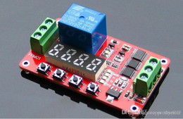 Wholesale 12V DC Multifunction Self lock Relay PLC Cycle Timer Module Delay Time Switch module connector A5