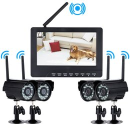 Wholesale DVR Security System Digital Wireless quot LCD Monitor SD Card Recording and Long Range Night Vision CCTV Cameras Recorder DHL S240