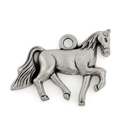 30pcs 27.5*20.5 mm horse tibetan silver lucky charm