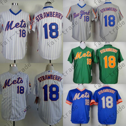 Darryl Strawberry Jersey Vintage New York Mets Jerseys Blue Green Grey Throwback