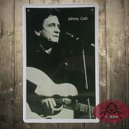 Wholesale Johnny Cash Metal signs wall decor House Office Restaurant Bar Metal Painting art