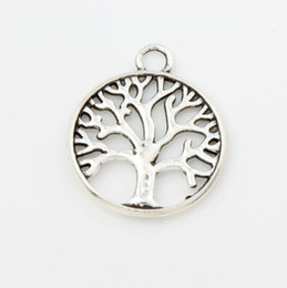 Wholesale New MIC Antique Silver Family Tree Of Life Charms Pendants Jewelry DIY L463 x23 mm Hot