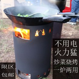 Wholesale Portable picnic fuel gas stove road trips wood stove picnics cooking burn oven cook stove charcoal burners a batch of dual use