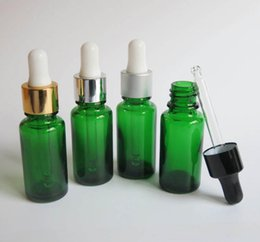 Wholesale ml Green Glass Jars Reagent Eye Dropper Drop Aromatherapy Liquid Pipette Bottles
