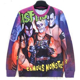Raisevern Misfits band print women men sweatshirt famous monsters special cool hoodies colorful o-neck sweats tops bulk sale
