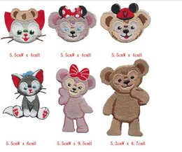 Wholesale High quality Animal cartoon Patch Clothing accessories Embroidery Applique Hotfix 6pcs bag For Clothes Girls Boys Iron On Patches