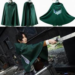 Wholesale Fashion Shingeki No Kyojin Cloak Cape Coat Clothes Halloween Cosplay Costume Anime Attack On Titan EKG