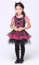 Wholesale 2016 new girl Halloween performance cosplay cat dance customes cute girl dance clothes
