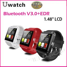 Wholesale U Watch U8 Bluetooth Smart Watch WristWatchfor IOS iPhone S S For Samsung S4 Note HTC Android Cell Phone Smartphone