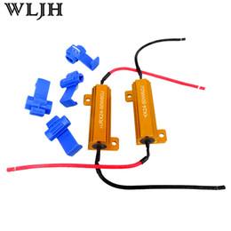 2017 las luces de carga WLJH 6ohm 50W llevó la resistencia de carga de reparación de coches bombilla LED de flash rápido de giro de la señal de freno de luz corriendo parpadeo intermitente descuento las luces de carga