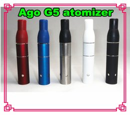 Hot AGO G5 Atomizer Clearomizer Wind proof for ego Electronic Cigarette Dry Herb Vaporizer G5 Pen Style E cig for Cut Various Color FreeDHL