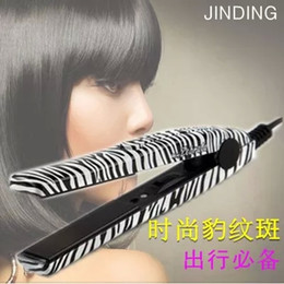 Electronic 2015 Professional Hairstyling Mini Portable Ceramic Flat Zebra Hair Straightener Irons Styling Tools Straight Hair 25W US Plug