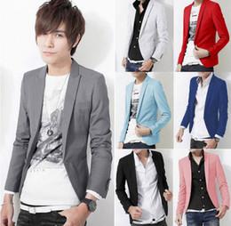 Wholesale Casual Dress Coat Men - Plus Size 2015 New Arrival Luxury Blazer Men Fashion One Button Slim Fit Casual Business Suit Dress Blazer Coat Jacket Suit Men [CM04034*1]