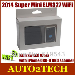 Wholesale Best Tool Super Mini ELM327 WiFi with Switch Work iPhone Super OBD II OBD Can MINI ELM327 Code Reader Tool with good price