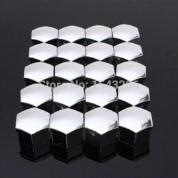 Wholesale 20pcs set mm Car Plastic Caps Bolts Covers Nuts Alloy Wheel Matt Protectors Chrome cap catch bolt cap