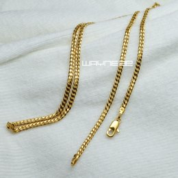 Elegant 18K 18CT Yellow Gold Filled GF 17.7 inch(45cm) Length Ladies Chain Necklace N316
