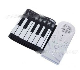 doux piano clavier de piano clavier en silicone laminé à la main roulée à la main portable 49 clavier de piano pliable WG241 roulé à la main à partir de 49 main clé roulé de piano fabricateur
