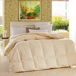 Wholesale cold proof and heat insulation duvet with Cotton fabric Winter Quilt cream coloured