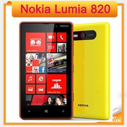 "4.3"" Original Lumia 820 Nokia Windows Phone 8 ROM 8GB Camera 8.0MP Nokia 820 Mobile Phone Freeshipping"