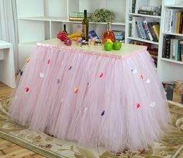 Wholesale Colorful Wedding Tutu Table Sash Decorations cm Custom Made Wedding Party Formal Event Wedding Suppliers Birthday Party Table Sash