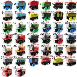 Wholesale 2016 Hot Thomas Friends Fancy wooden model of a full set of Thomas train colors preschool educational wooden toys